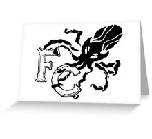 Four Corners crest - black and white Greeting Card