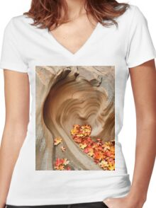 Heart of Stone Women's Fitted V-Neck T-Shirt