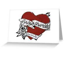 Babyshambles, Pete Doherty, heart tattoo design Greeting Card