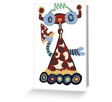 Pizzabot Greeting Card