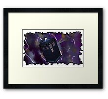 Blue Box in Space Framed Print