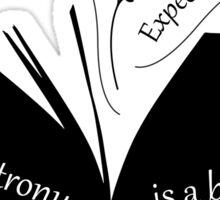 My Patronus is a book Sticker