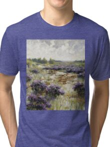 Vintage famous art - George Hitchcock - Field Of Heather Tri-blend T-Shirt