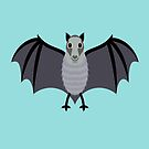 BIG-EYED BAT by Jean Gregory  Evans