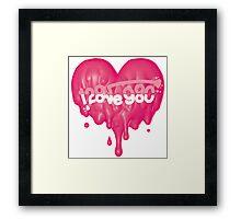 I love you <3 2 Framed Print