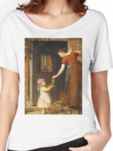Vintage famous art - George Smith - Gathering The Grapes Women's Relaxed Fit T-Shirt