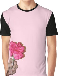 Flower in Hand Graphic T-Shirt