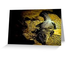 Croc in a Cave Greeting Card