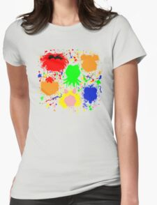 Muppet Splatter Womens Fitted T-Shirt