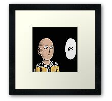 One punch man Framed Print