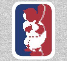 Nintendo RBI Baseball Major League MLB Logo One Piece - Long Sleeve