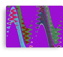 Purple Wave Abstract Canvas Print