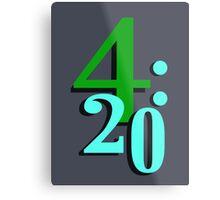 420 Cannabis National Smoking Time Metal Print