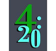 420 Cannabis National Smoking Time Photographic Print
