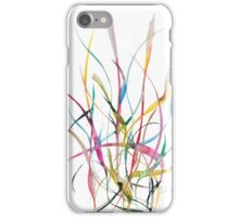 Unknown Flower 2 - Small Abstract Landscape,  watercolor, ink & pencil on paper iPhone Case/Skin