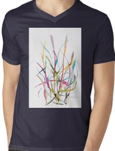 Unknown Flower 2 - Small Abstract Landscape,  watercolor, ink & pencil on paper Mens V-Neck T-Shirt