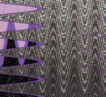 Grey Purple Ice Abstract Sticker
