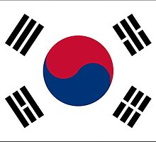 South Korean Flag Stickers by Mark Podger