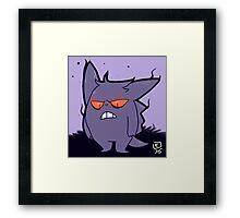 Grumpy Gengar Framed Print