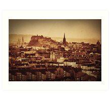 Edinburgh Vintage Print Art Print