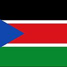 South Sudan Flag Stickers by Mark Podger
