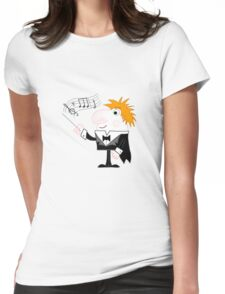 Cartoon Conductor Womens Fitted T-Shirt