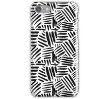 All Black - Crosshatch pattern iPhone Case/Skin