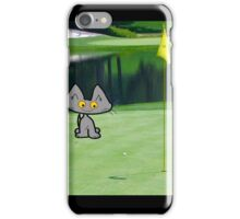 Cat  Playing Golf On The 18 Hole iPhone Case/Skin