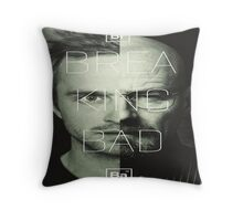 Jesse Pinkman with breaking bad  Throw Pillow