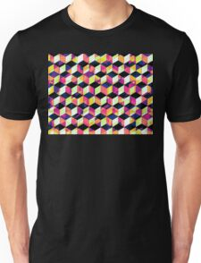 Geometric Cubes Pop Art Unisex T-Shirt