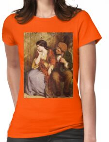 Vintage famous art - George Smith - Moment Of Suspense Womens Fitted T-Shirt