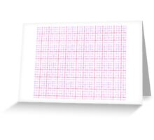 Pink and Grey Grid Greeting Card