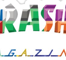 thrasher color block logo Sticker