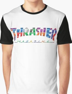 thrasher color block logo Graphic T-Shirt