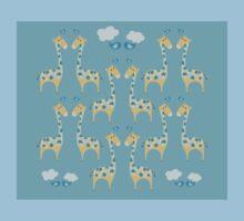 Cute Giraffe Illustration One Piece - Short Sleeve