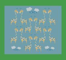 Cute Giraffe Illustration Kids Tee