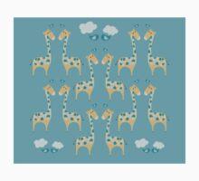 Green Giraffes Illustration Kids Tee