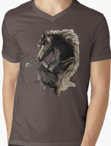 """Black Fury"" by Sara Moon Mens V-Neck T-Shirt"
