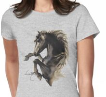 """Black Fury"" by Sara Moon Womens Fitted T-Shirt"