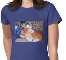 Three Little Kittens Womens Fitted T-Shirt