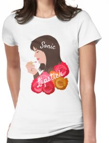 Sarah Jane Smith's Sonic Lipstick Womens Fitted T-Shirt