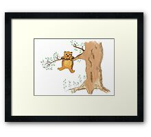 Silly bear and tree Framed Print