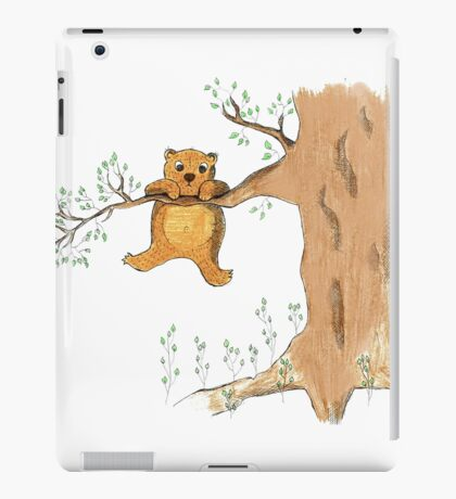 Silly bear and tree iPad Case/Skin