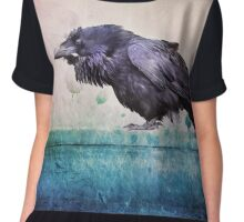 Words of a Raven Chiffon Top