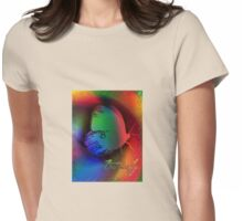 A Butterfly with Rainbow Wings Womens Fitted T-Shirt