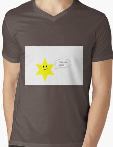 You can do it-Star Mens V-Neck T-Shirt