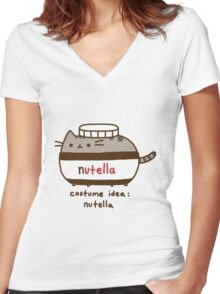 Costume idea Nutella Women's Fitted V-Neck T-Shirt