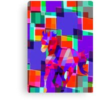 Cool Horse Vector Colors And Shapes  Canvas Print