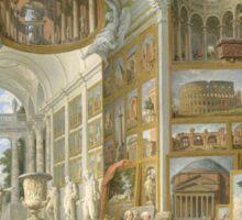 Vintage famous art - Giovanni Paolo Panini - Ancient Rome Sticker