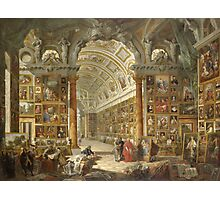 Vintage famous art - Giovanni Paolo Panini - Interior Of A Picture Gallery With The Collection Of Cardinal Silvio Valenti Gonzaga Photographic Print